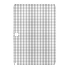Christmas Silver Gingham Check Plaid Samsung Galaxy Tab Pro 10 1 Hardshell Case by PodArtist