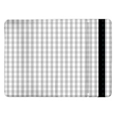 Christmas Silver Gingham Check Plaid Samsung Galaxy Tab Pro 12 2  Flip Case by PodArtist