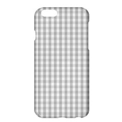 Christmas Silver Gingham Check Plaid Apple Iphone 6 Plus/6s Plus Hardshell Case