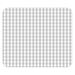 Christmas Silver Gingham Check Plaid Double Sided Flano Blanket (small)  by PodArtist