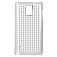 Christmas Silver Gingham Check Plaid Samsung Galaxy Note 4 Case (white) by PodArtist