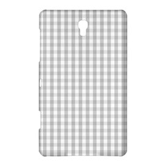 Christmas Silver Gingham Check Plaid Samsung Galaxy Tab S (8 4 ) Hardshell Case