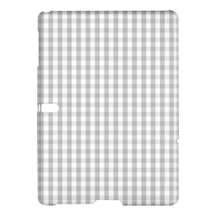 Christmas Silver Gingham Check Plaid Samsung Galaxy Tab S (10 5 ) Hardshell Case  by PodArtist