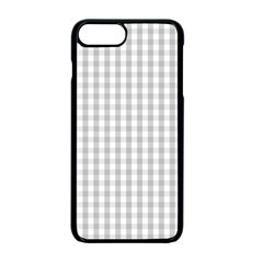 Christmas Silver Gingham Check Plaid Apple Iphone 7 Plus Seamless Case (black) by PodArtist