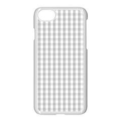 Christmas Silver Gingham Check Plaid Apple Iphone 7 Seamless Case (white) by PodArtist
