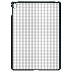 Christmas Silver Gingham Check Plaid Apple Ipad Pro 9 7   Black Seamless Case by PodArtist