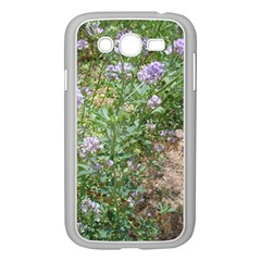 Purple Wildflowers Samsung Galaxy Grand DUOS I9082 Case (White) by TailWags