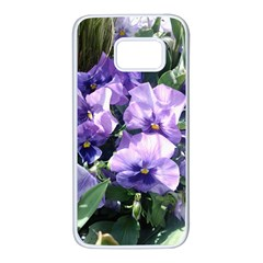 Purple Pansies Samsung Galaxy S7 White Seamless Case by TailWags