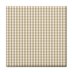 Christmas Gold Large Gingham Check Plaid Pattern Face Towel