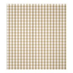 Christmas Gold Large Gingham Check Plaid Pattern Shower Curtain 66  X 72  (large)  by PodArtist