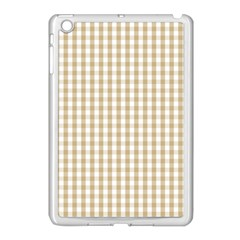 Christmas Gold Large Gingham Check Plaid Pattern Apple Ipad Mini Case (white) by PodArtist