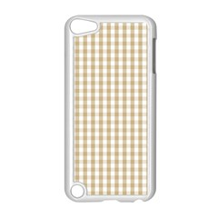 Christmas Gold Large Gingham Check Plaid Pattern Apple Ipod Touch 5 Case (white) by PodArtist