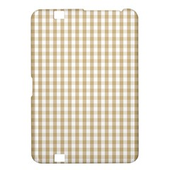 Christmas Gold Large Gingham Check Plaid Pattern Kindle Fire Hd 8 9  by PodArtist
