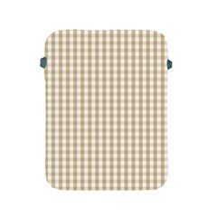 Christmas Gold Large Gingham Check Plaid Pattern Apple Ipad 2/3/4 Protective Soft Cases by PodArtist