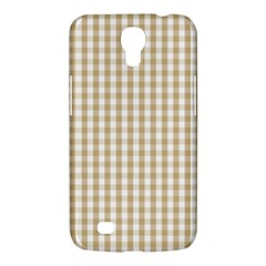Christmas Gold Large Gingham Check Plaid Pattern Samsung Galaxy Mega 6 3  I9200 Hardshell Case by PodArtist