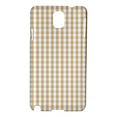Christmas Gold Large Gingham Check Plaid Pattern Samsung Galaxy Note 3 N9005 Hardshell Case by PodArtist