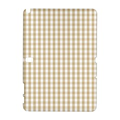 Christmas Gold Large Gingham Check Plaid Pattern Galaxy Note 1 by PodArtist