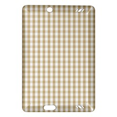Christmas Gold Large Gingham Check Plaid Pattern Amazon Kindle Fire Hd (2013) Hardshell Case by PodArtist