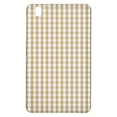 Christmas Gold Large Gingham Check Plaid Pattern Samsung Galaxy Tab Pro 8 4 Hardshell Case by PodArtist