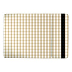 Christmas Gold Large Gingham Check Plaid Pattern Samsung Galaxy Tab Pro 10 1  Flip Case by PodArtist