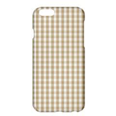 Christmas Gold Large Gingham Check Plaid Pattern Apple Iphone 6 Plus/6s Plus Hardshell Case by PodArtist