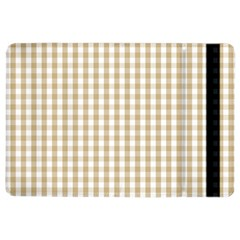 Christmas Gold Large Gingham Check Plaid Pattern Ipad Air 2 Flip by PodArtist