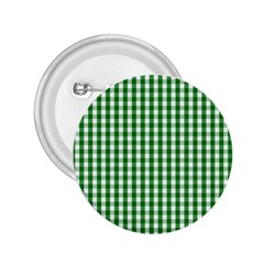 Christmas Green Velvet Large Gingham Check Plaid Pattern 2 25  Buttons by PodArtist