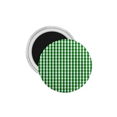 Christmas Green Velvet Large Gingham Check Plaid Pattern 1 75  Magnets by PodArtist