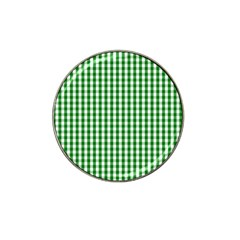 Christmas Green Velvet Large Gingham Check Plaid Pattern Hat Clip Ball Marker (10 Pack) by PodArtist