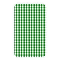 Christmas Green Velvet Large Gingham Check Plaid Pattern Memory Card Reader by PodArtist