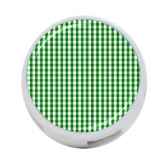Christmas Green Velvet Large Gingham Check Plaid Pattern 4 Port Usb Hub (one Side) by PodArtist