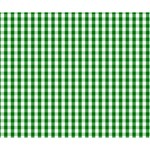 Christmas Green Velvet Large Gingham Check Plaid Pattern Deluxe Canvas 14  x 11  14  x 11  x 1.5  Stretched Canvas