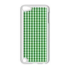 Christmas Green Velvet Large Gingham Check Plaid Pattern Apple Ipod Touch 5 Case (white) by PodArtist
