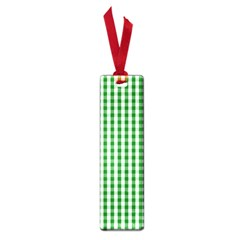 Christmas Green Velvet Large Gingham Check Plaid Pattern Small Book Marks by PodArtist