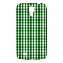 Christmas Green Velvet Large Gingham Check Plaid Pattern Samsung Galaxy Mega 6 3  I9200 Hardshell Case by PodArtist