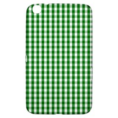 Christmas Green Velvet Large Gingham Check Plaid Pattern Samsung Galaxy Tab 3 (8 ) T3100 Hardshell Case  by PodArtist