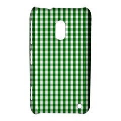 Christmas Green Velvet Large Gingham Check Plaid Pattern Nokia Lumia 620 by PodArtist