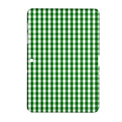 Christmas Green Velvet Large Gingham Check Plaid Pattern Samsung Galaxy Tab 2 (10 1 ) P5100 Hardshell Case  by PodArtist