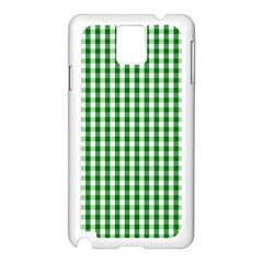 Christmas Green Velvet Large Gingham Check Plaid Pattern Samsung Galaxy Note 3 N9005 Case (white) by PodArtist