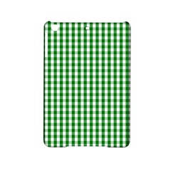 Christmas Green Velvet Large Gingham Check Plaid Pattern Ipad Mini 2 Hardshell Cases by PodArtist