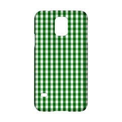 Christmas Green Velvet Large Gingham Check Plaid Pattern Samsung Galaxy S5 Hardshell Case  by PodArtist
