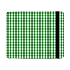 Christmas Green Velvet Large Gingham Check Plaid Pattern Samsung Galaxy Tab Pro 8 4  Flip Case by PodArtist