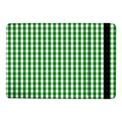 Christmas Green Velvet Large Gingham Check Plaid Pattern Samsung Galaxy Tab Pro 10 1  Flip Case by PodArtist