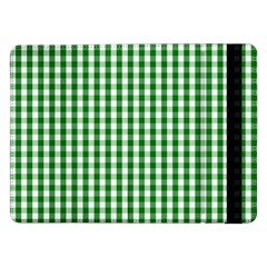 Christmas Green Velvet Large Gingham Check Plaid Pattern Samsung Galaxy Tab Pro 12 2  Flip Case by PodArtist