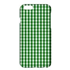 Christmas Green Velvet Large Gingham Check Plaid Pattern Apple Iphone 6 Plus/6s Plus Hardshell Case by PodArtist