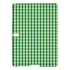 Christmas Green Velvet Large Gingham Check Plaid Pattern Samsung Galaxy Tab S (10 5 ) Hardshell Case  by PodArtist
