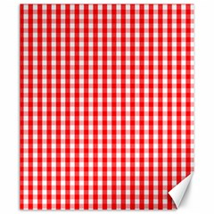 Christmas Red Velvet Large Gingham Check Plaid Pattern Canvas 20  X 24   by PodArtist