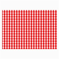 Christmas Red Velvet Large Gingham Check Plaid Pattern Large Glasses Cloth by PodArtist