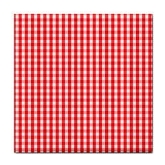 Christmas Red Velvet Large Gingham Check Plaid Pattern Face Towel by PodArtist