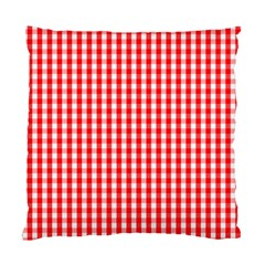 Christmas Red Velvet Large Gingham Check Plaid Pattern Standard Cushion Case (two Sides) by PodArtist